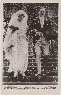 'Wedding of Lady Rachel Cavendish and Capt. The Hon. J.G. Stuart', by London News Agency, published by  J. Beagles & Co - NPG x197849