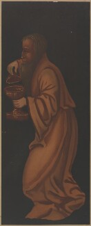 Figure from painting of 'Adoration of the Magi' on the rood screen at Plymtree Church (formerly thought to be John Morton), by Unknown artist - NPG D43057