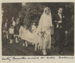 Julia Dorothy (née Cornwallis), Lady Cochrane and Sir Archibald Douglas Cochrane on their wedding day, by Unknown photographer - NPG x197920