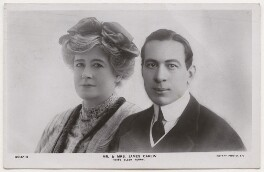 'Mr. & Mrs. James Carew (Miss Ellen Terry)', published by Rotary Photographic Co Ltd, after  R. Johnson - NPG x197932