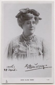 Ellen Terry, by R. Johnson, published by  Raphael Tuck & Sons - NPG x197933