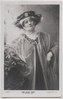 Ellen Terry as Mistress Page in 'The Merry Wives of Windsor', by Window & Grove, published by  Rotary Photographic Co Ltd, 1902 - NPG  - © National Portrait Gallery, London