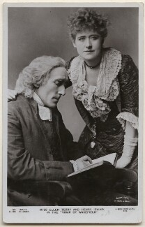 Sir Henry Irving as Dr Primrose; Ellen Terry as Olivia in 'Olivia', by Window & Grove, published by  J. Beagles & Co - NPG x197945
