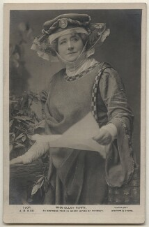 Ellen Terry as Mistress Page in 'The Merry Wives of Windsor', by Window & Grove, published by  J. Beagles & Co - NPG x197948