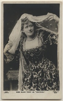 Ellen Terry as Beatrice in 'Much Ado About Nothing', by Window & Grove, published by  Rapid Photo Co - NPG x197949