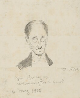 George Henry ('George Henry ARA responding to a toast'), by Fred Roe - NPG D43063