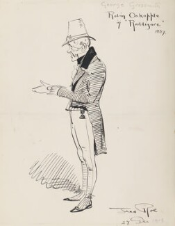George Grossmith (George Grossmith as Robin Oakapple in Ruddigore 1887), by Fred Roe - NPG D43076