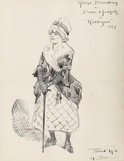 Rosina Brandram (neé Moult) (Rosina Brandram as Dame Hannah in Ruddigore 1887), by Fred Roe - NPG D43077