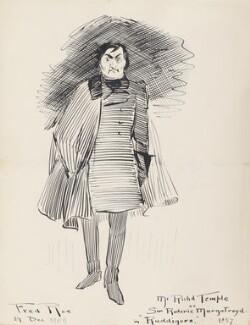 Richard Temple (Richard Barker Cobb) ('Richard Temple as Sir Roderick Murgatroyd in Ruddigore 1887'), by Fred Roe - NPG D43079