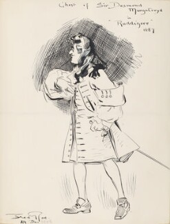 'Ghost of Sir Desmond Murgatroyd in Ruddigore 1887' (Unknown singer), by Fred Roe - NPG D43081