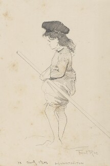 Unknown girl paddling in the sea at Hunstanton, by Fred Roe - NPG D43083