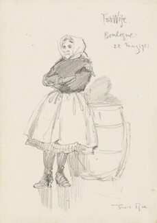 'Fishwife, Boulogne' (Unknown woman), by Fred Roe - NPG D43084