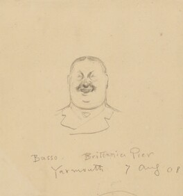 Unknown male singer, Brittania Pier, Great Yarmouth, by Fred Roe - NPG D43086