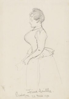 'Fine Taille, Boulogne' (Unknown woman), by Fred Roe - NPG D43088