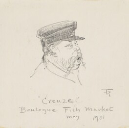 'Creuze, Boulogne Fish Market' (Unknown fisherman), by Fred Roe - NPG D43089
