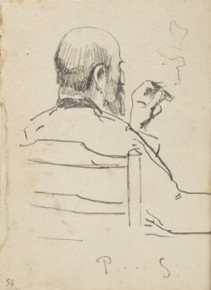 Richard Phené Spiers, smoking, by Fred Roe - NPG D43115