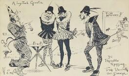Comic sketch: 'A Lyttel Geste' (Five unknown sitters), by Fred Roe - NPG D43118