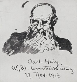 Axel Herman Haig, by Fred Roe - NPG D43123