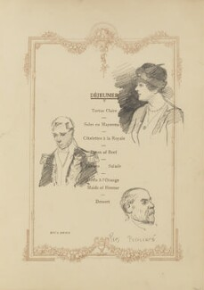 President Poincaré and two unknown sitters, by Fred Roe - NPG D43132