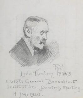 Probably (John) Leslie Thomson ('Leslie Thompson RWS'), by Fred Roe - NPG D43133