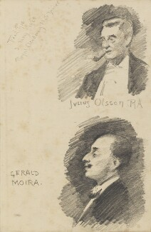 Julius Olsson and Gerald Moira, by Fred Roe - NPG D43135