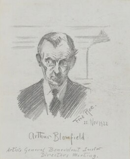 Arthur Conran Blomfield, by Fred Roe - NPG D43142