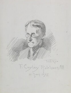 Frederick Cayley Robinson, by Fred Roe - NPG D43154