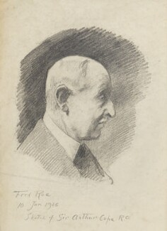 Sir Arthur Stockdale Cope: Study for 'The passing of John Sargent.', by Fred Roe - NPG D43165