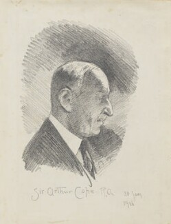 Sir Arthur Stockdale Cope: Study for 'The passing of John Sargent.', by Fred Roe - NPG D43166