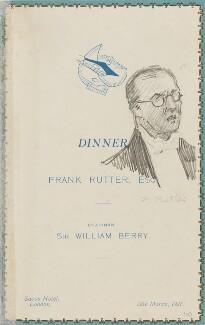 Frank Rutter, by Fred Roe - NPG D43168a