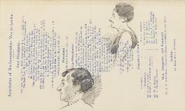 Two unknown women, by Fred Roe - NPG D43176b