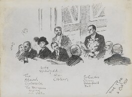Sir Charles Cheers Wakefield; Sir Alan John Cobham and eight unknown sitters, by Fred Roe - NPG D43179a