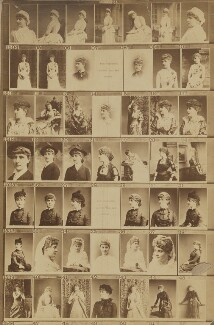 May Fortescue (née Finney) as Dorothy in 'Dan'l Druce'; May Fortescue (née Finney); Madge Milton; Julia Lavinia Gwynne; Ellen Terry, by and after Elliott & Fry - NPG Ax139900