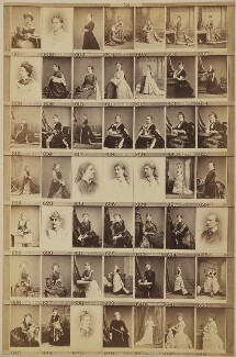 Various singers, actors and musicians, by and after Elliott & Fry - NPG Ax139912