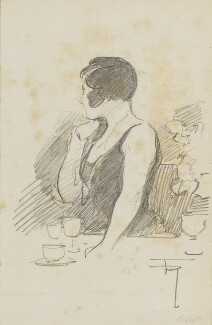 Unknown woman at the AGBI Dinner, by Fred Roe - NPG D43172