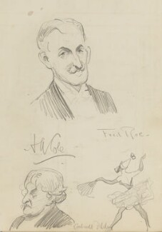 Edward Rimbault Dibdin, Henry A Cole and an unknown dancer, by Fred Roe - NPG D43195