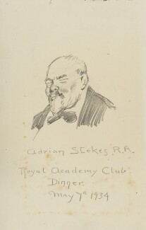 Adrian Stokes, by Fred Roe - NPG D43215
