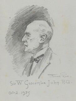 Sir William Goscombe John, by Fred Roe - NPG D43217