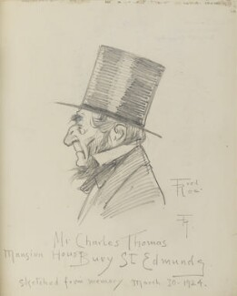 Edward Charles Thomas, by Fred Roe - NPG D43222