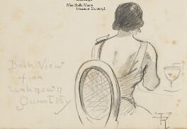 Unknown woman, 'Back View of an unknown Quantity', by Fred Roe - NPG D43228