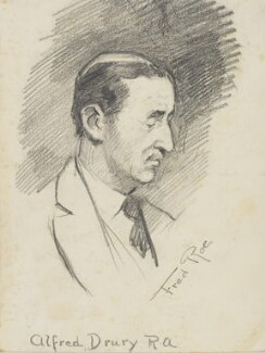 Alfred Drury: Study for 'The passing of John Sargent.', by Fred Roe - NPG D43254
