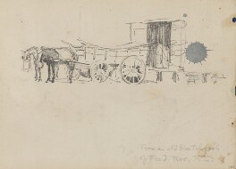 Waggon and horses, by Fred Roe - NPG D43258