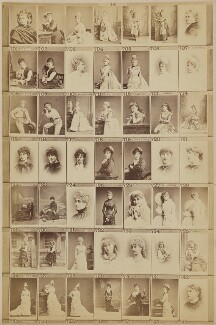 Various actresses, by and after Elliott & Fry - NPG Ax139914