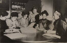 Suffragette committee meeting, for Daily Mirror - NPG x139878