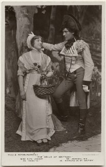 Ruth Vincent as Babette and (Edward) Lawrence Rea as Raymond de St Gautier in 'The Belle of Brittany', by Foulsham & Banfield, published by  Rotary Photographic Co Ltd - NPG x139839