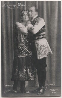 Magda Almo and Carl Grünwald in 'The Merry Widow', by Willinger (Margaret Willinger), published by  Photochemie - NPG x139843
