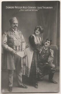 Sigmund Natzler; Mizzi Günther and Louis Treumann in 'The Merry Widow', by Unknown photographer - NPG x139847