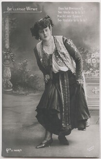 Mizzi Günther in 'The Merry Widow', by Alexander Schmoll - NPG x139848
