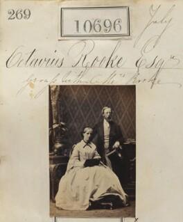 Octavius Cobb Rooke; Augusta Harriet Rooke (née Pyrke), by Camille Silvy - NPG Ax60407