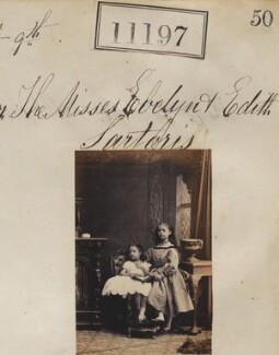 Edith Craven (née Sartoris); Evelyn Mary Sartoris, by Camille Silvy - NPG Ax60896
